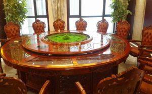 酒店餐馆专用电动餐桌,大理石电动餐桌,电动转盘餐桌