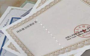 防伪证书 防伪证书印刷 防伪证书制作厂家 众鑫骏业免费设计