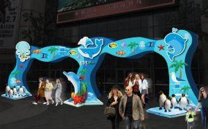 重庆商场美陈设计,商业广场规划,专注设计多年