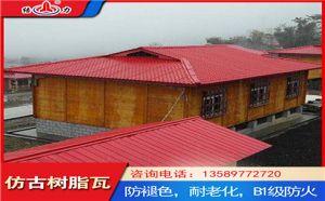 山东聊城古建仿古瓦 屋顶隔热瓦 新型塑料建材保温隔热