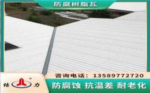 防腐玻纤瓦 内蒙古包头树脂防腐瓦 树脂墙体板防水性能好