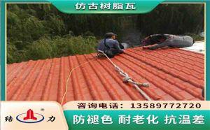 合成树脂瓦 江苏泰州树脂琉璃瓦 防腐装饰瓦使用寿命长